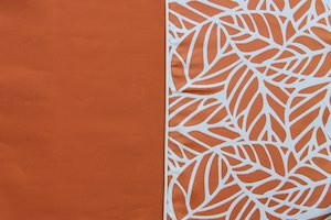 Brooklyn Orange fabric sample