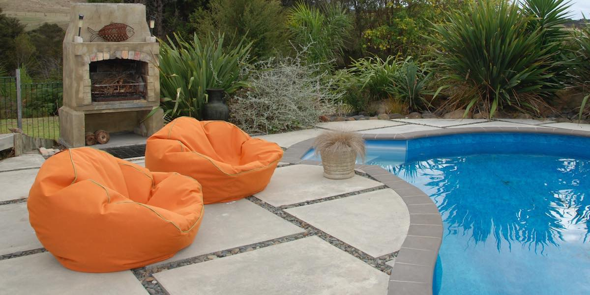 tuscan bean bags made from marine grade canvas